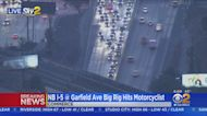 Motorcycle Struck By Big Rig On 5 Freeway in Commerce