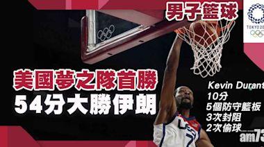 東京奧運|美國男籃54分大勝伊朗 夢之隊扳回一城 - 香港體育新聞 | 即時體育快訊 | 最新體育消息 - am730