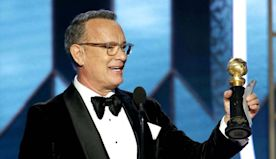 Golden Globes: Tom Hanks Tears Up While Accepting Cecil B. DeMille Award