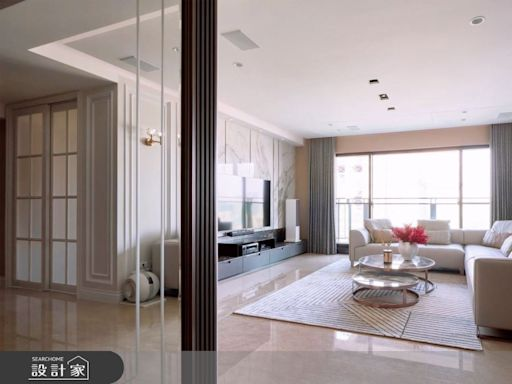 歡迎大家來我家!L型沙發形塑豪氣客廳,新古典風豪宅用設計款待屋主與親友