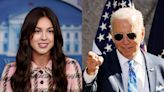 Olivia Rodrigo says Joe Biden gave her Aviator sunglasses, M&M's, and a shoehorn when she visited the White House