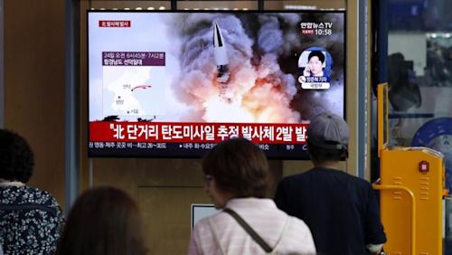 North Korea launches two more 'short-range ballistic missiles' into sea