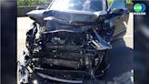轎車高速撞工程車 幸防撞架降低人員傷