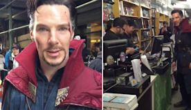 Watch Benedict Cumberbatch surprise comic shop workers while dressed as Doctor Strange