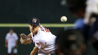 Sea Dogs collect 17 strikeouts, but fall to Thunder, 4-2