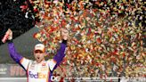 Hamlin advances to third round of Nascar playoffs with first career win in Las Vegas
