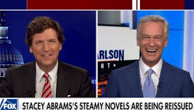 Tucker Carlson Seems Kind of Turned on by Stacey Abrams' Romance Novels (Video)