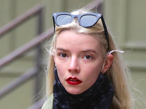 Anya Taylor-Joy's Answer to Transitional Dressing Is a Denim Boilersuit & Studded Boots