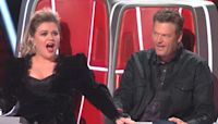 Blake Shelton jokes Adam Levine was fired because of Kelly Clarkson on 'The Voice'