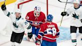 Rookie Dahlen scores twice, Sharks blank Canadiens 5-0