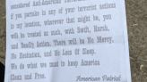 Sugarcreek Twp. Police investigating threatening letters sent to families with BLM signs