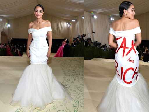 AOC defends polarizing 'Tax the Rich' Met Gala dress: 'The medium is the message'
