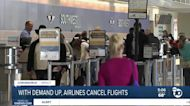 With demand up, airlines cancel flights