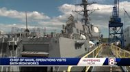 Chief of naval operations gets look at BIW's newest destroyer
