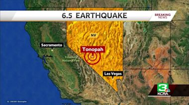USGS reports magnitude-6.5 earthquake in western Nevada