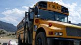 Couple turning school bus into home