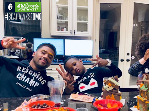 Russell Wilson, Ciara carve out family fun with backyard pumpkin patch
