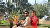 PICS: Rajkummar Rao & Kriti Sanon's colourful scooty steals the show as they promote 'Hum Do Hamare Do'