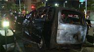 新北露天停車場發生火燒車 業者疑遭挾怨縱火