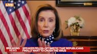 Pelosi Says Some Differences Remain Over Stimulus Bill