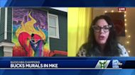 Milwaukee artists show support for Bucks with murals