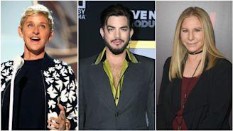 Ellen DeGeneres, Adam Lambert And More Go Purple For Spirit Day