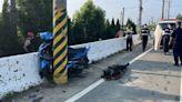 嘉義男騎車疑自撞電線桿 掉落水溝死亡