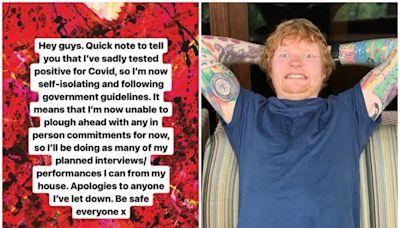 Ed Sheeran確診新冠肺炎 日前曾跟威廉王子夫婦見面