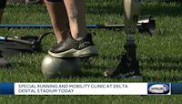 Special running, mobility clinic at Delta Dental Stadium Sunday