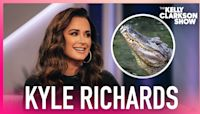 Kyle Richards Got Into An Alligator Swamp For 'Halloween Kills'