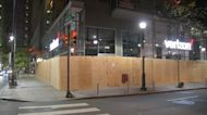 Philadelphia boarded up as city sets curfew to quell violence