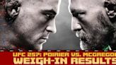 UFC 257 weigh-in results: Conor McGregor first to the scale for Dustin Poirier rematch