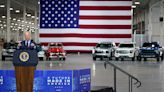 Surprise! Electric Ford F-150 Lightning revealed early at Biden event