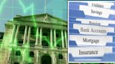 Bank of England 'will have to act' - raised rates to hit your mortgage, savings & pensions