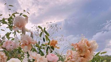 花藝中的夏日冰激凌,清涼甜野風