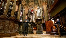 Andrea Bocelli gives moving Easter concert in an empty Milan cathedral