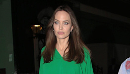 Angelina Jolie Traded in Her All-Black Uniform for a Bright Green Caftan