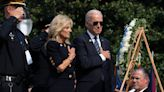 'Because of you democracy survived': Biden pays tribute to police during memorial ceremony