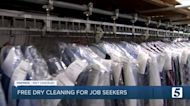 Dry cleaning company offers free services to unemployed job seekers
