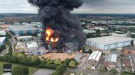 Drone Footage Captures Scale of Leamington Spa Blaze