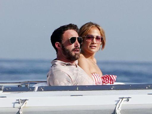 Jennifer Lopez and Ben Affleck Lounge on Yacht Off Amalfi Coast During Her Birthday Getaway