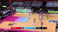 Tyler Herro with an and one vs the LA Clippers