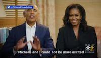 Obamas Return To Chicago For Groundbreaking Ceremony