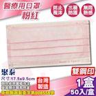 聚泰 聚隆 醫療口罩(粉紅)-50入/盒