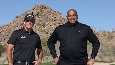 Phil Mickelson drags Charles Barkley to victory over Peyton Manning, Stephen Curry in The Match