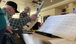 Group of seniors come together to create hand chime choir