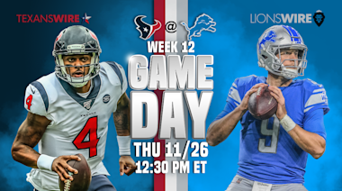 Texans Wire countdown to Lions: 10 factors to watch on Thanksgiving
