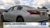 Rental car industry experiences shortage of vehicles