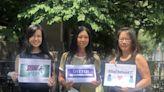 「亞裔非病毒」 3華女華埠宣導反亞裔仇恨犯罪