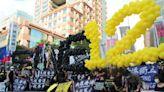 「釋放12港人!」3000人台北街頭遊行挺港 林榮基默默現身